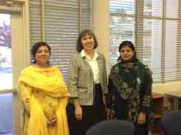 Professor Debbie Faires with AIOU Faculty at her class on Building Quality Online  Programs
