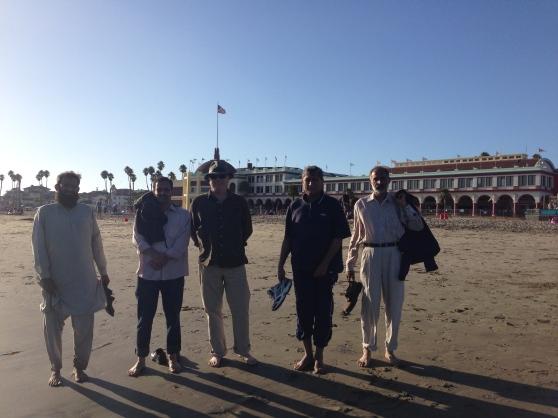 AIOU Faculty Enjoying the beach with SJSU CS Professor Jon Pearce