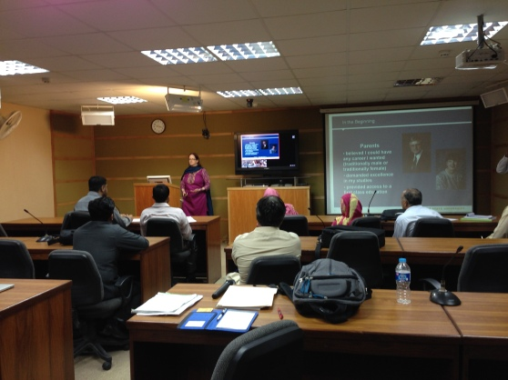 Professor Dianne Halls Lecture on her Professional Journey in Islamabad, Pakistan