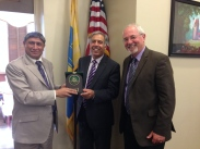 Dr. Nowshad and Project Director Mark Adams meeting with SJSU President Qayoumi