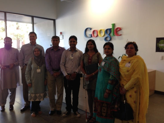 Visit to Google with AIOU FAculty