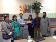 AIOU FAculty present Professor Bobbi Makani for her efforts in working with AIOU
