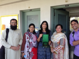 AIOU Faculty with Professor Amna Jaffer  at her class of Social Priviledge