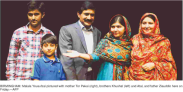 Malala Yousufzai the youngest winner of the Nobel Peace Prize