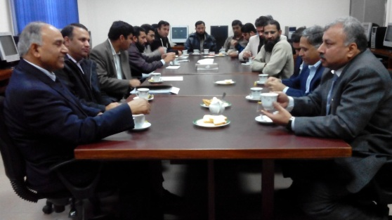Dr. Saleem meeting with AIOU Computer Science Faculty
