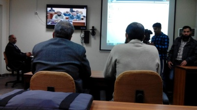 Dr. Saleem delivers a full Mathematics lecture visa Teleconferencing on Differentials in Urdu, a language commonly spoken in Pakistan