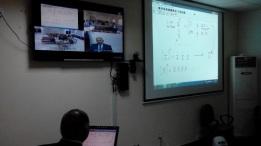 dr saleem sharing the white board