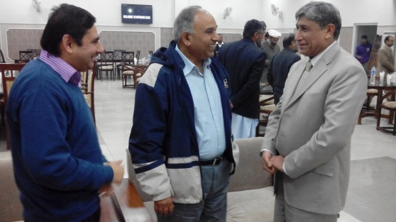 moiz saleem and nowshad at officers club