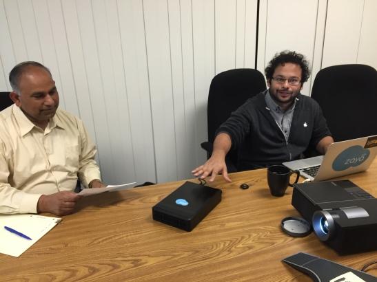 Zaya Labs CEO Neil DSouza introduces the Class Cloud to SJSU Professor Dr. Mohammad Saleem
